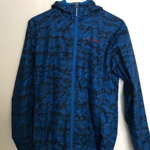 Columbia blue windbreaker